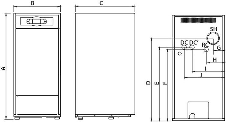 Caldera domusa bioclass hm 25 dr policombustible for Calderas de pellets domusa