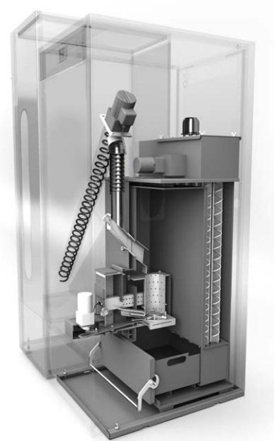 Sistema Grinder de limpieza automática para calderas de biomasa DOMUSA