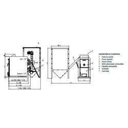 Medidas caldera biomasa Lasian Biomax 35