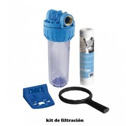Kit de filtración incluido en el pack